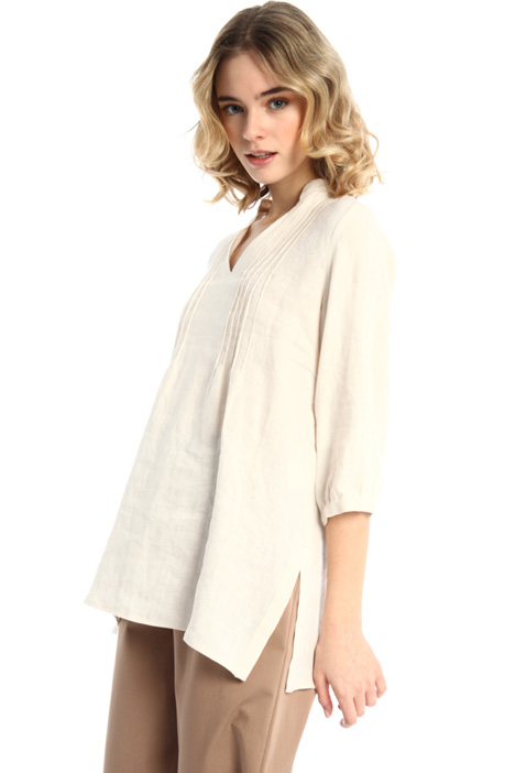 Long linen canvas tunic Intrend