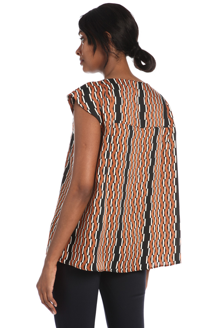 Printed twill top Intrend