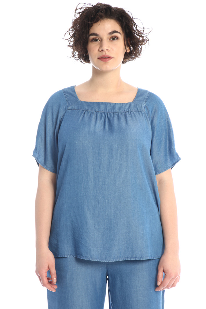 Light denim blouse Intrend