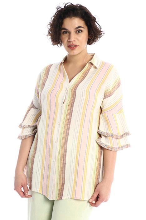 Fringed linen shirt Intrend