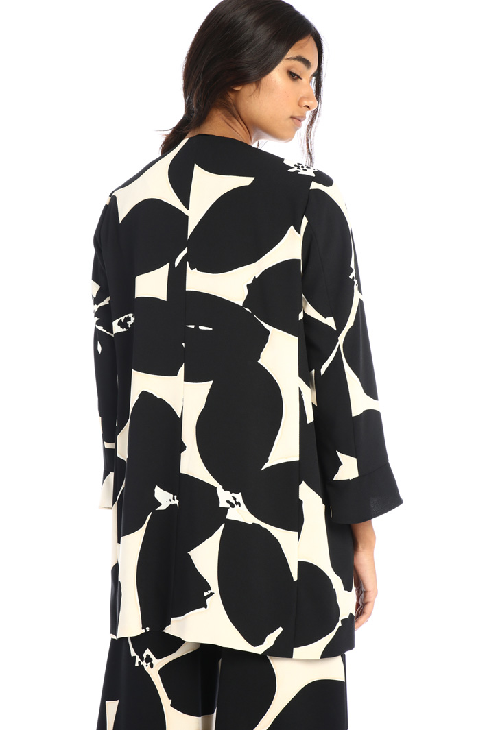 Printed cady overcoat Intrend