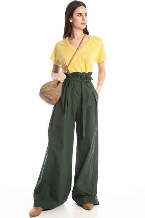 Cotton poplin trousers Intrend