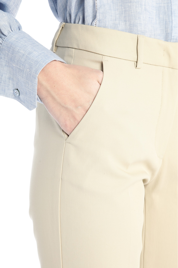 Piqué trousers Intrend