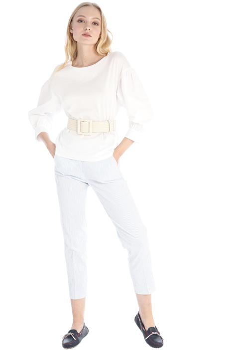 Cotton seersucker trousers Intrend