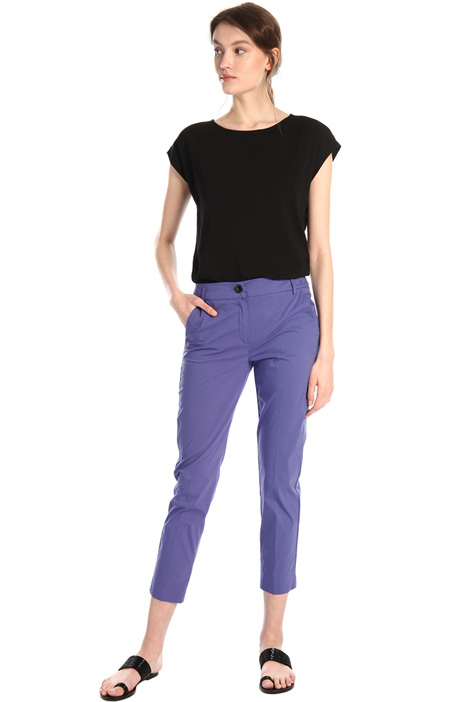 Straight poplin trousers Intrend