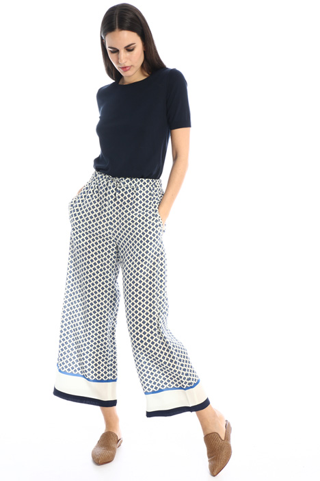 Flared silk trousers Intrend