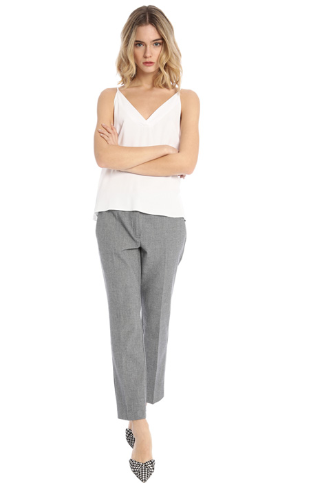 Flared yarn dyed trousers Intrend