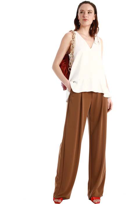 Pantaloni a palazzo in cady Intrend