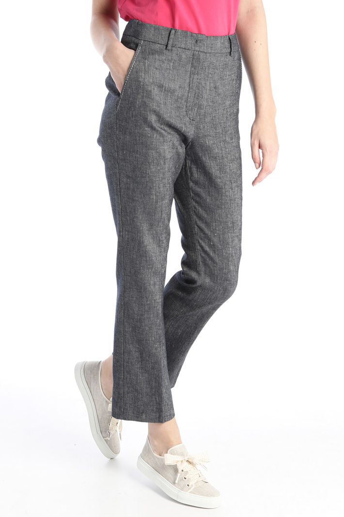 Linen and cotton trousers Intrend