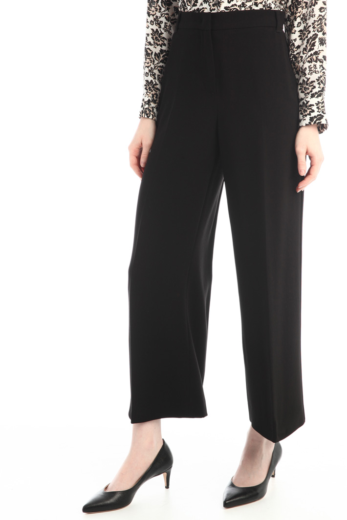 Cropped cady trousers Intrend