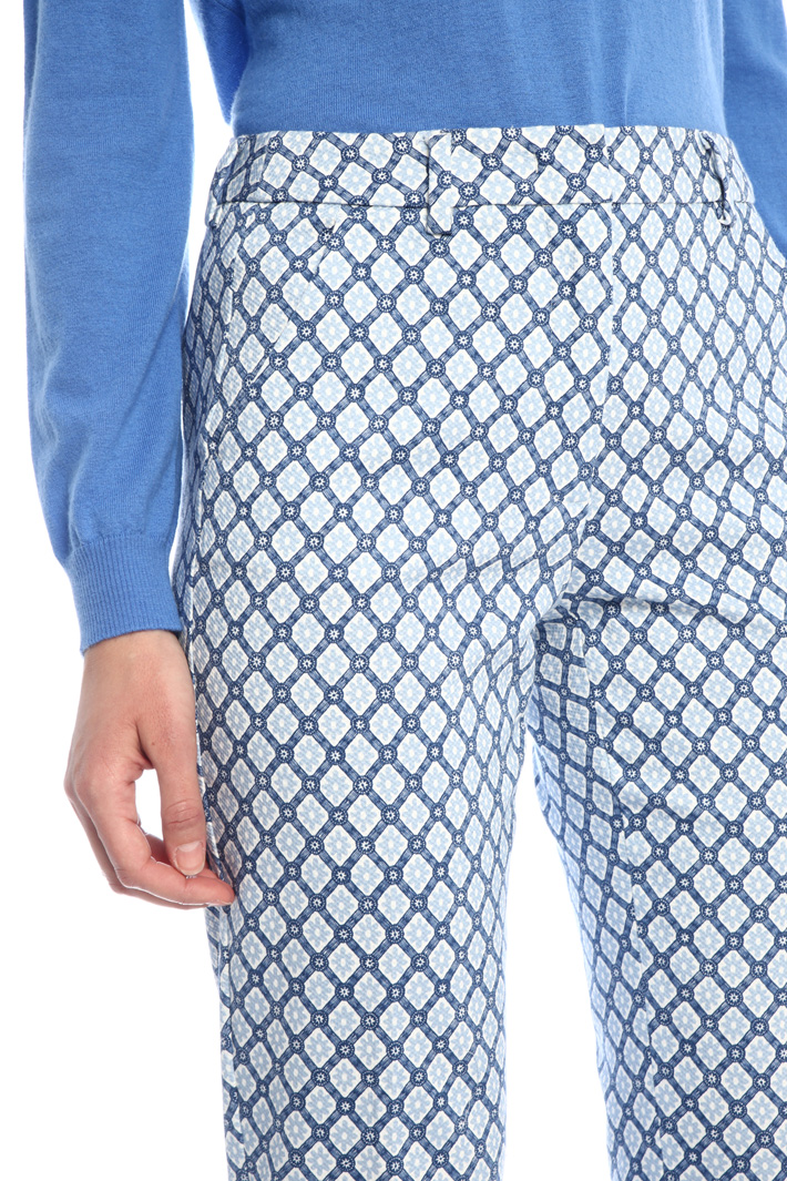 Cotton pique trousers Intrend