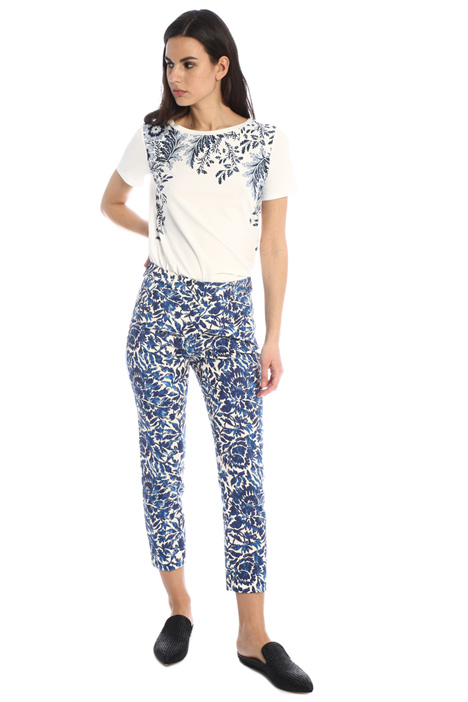 Cotton pique trousers Intrend