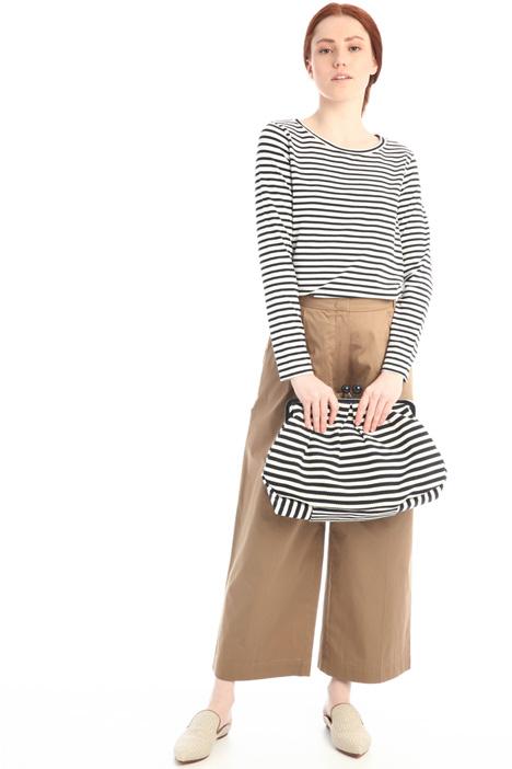 Pantaloni ampi con pieghe Intrend