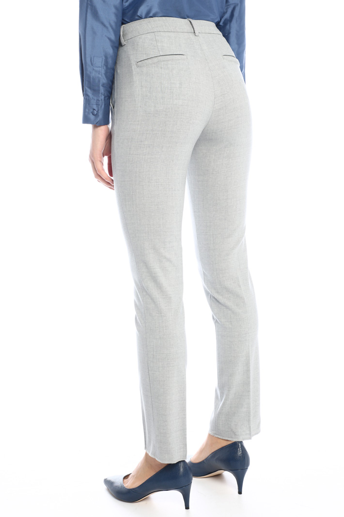Cigarette wool trousers Intrend