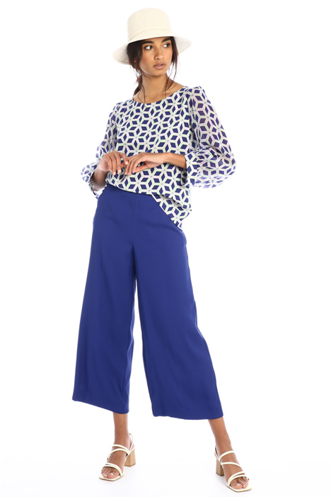 Fluid crepe trousers Intrend