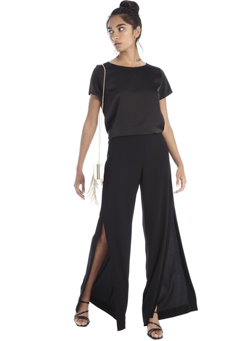 Cady trousers with slits Intrend