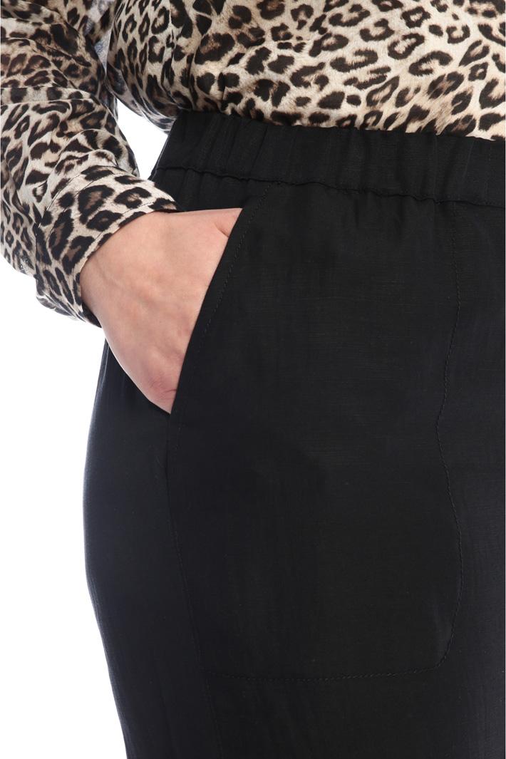 Straight-leg linen trousers Intrend