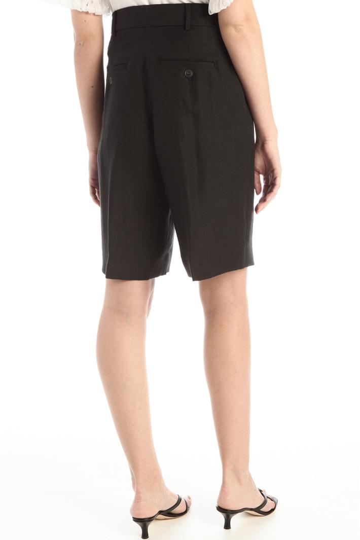 Linen canvas Bermuda shorts Intrend