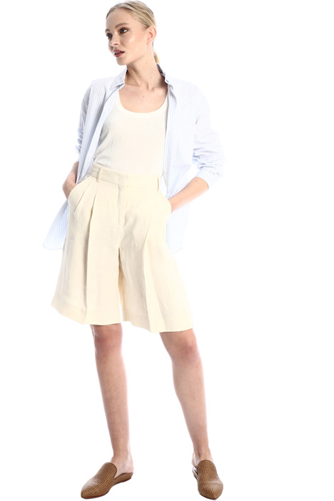 Linen canvas Bermuda shorts Intrend