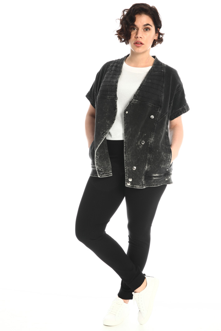 Marbled-effect denim jacket Intrend