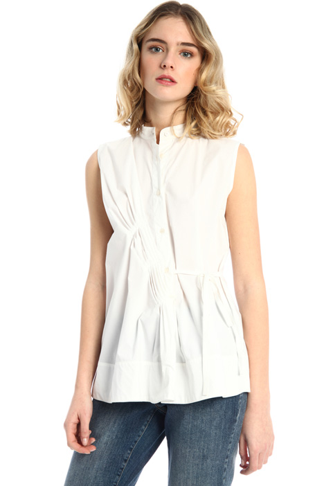 Pleated poplin blouse Intrend