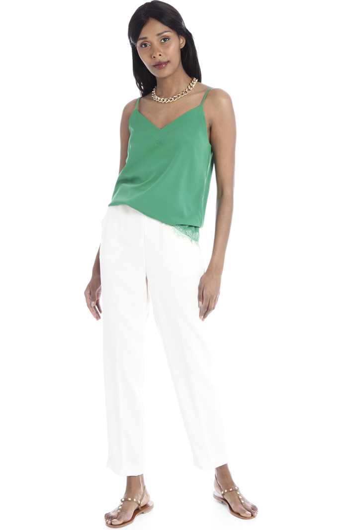 Top with lace inserts Intrend