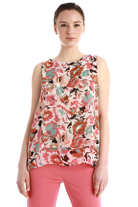 Printed chiffon top Intrend