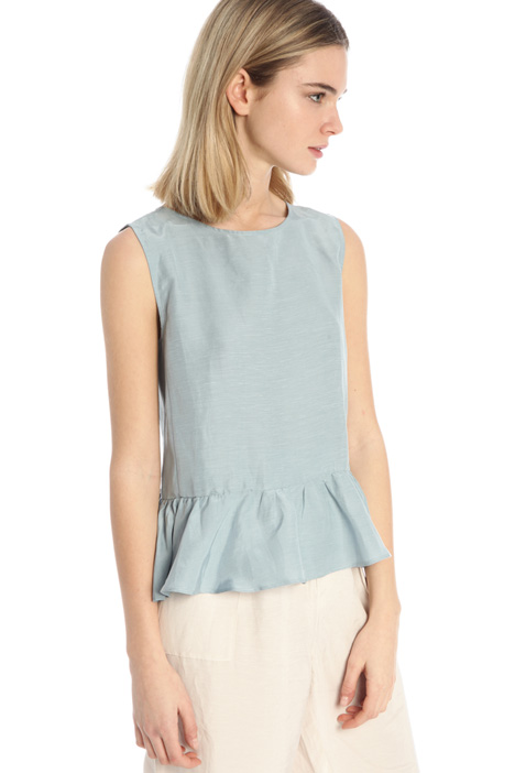 Viscose and linen top Intrend