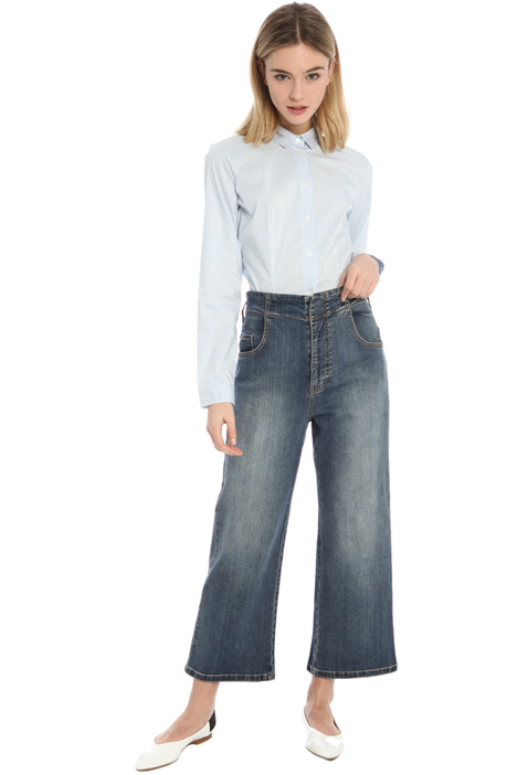 Jeans svasati in denim Intrend