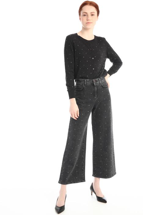 Crop rhinestone jeans Intrend