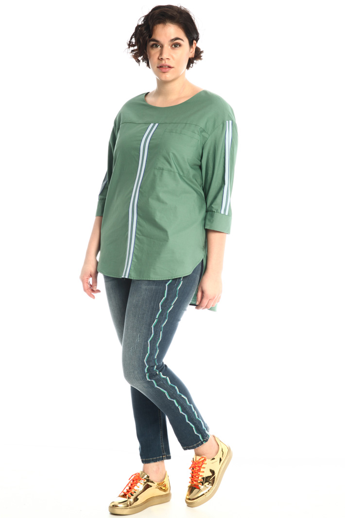 Embroidered cigarette jeans Intrend