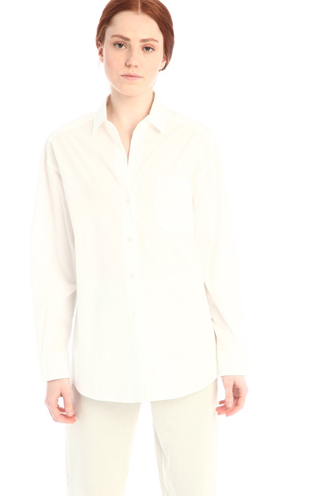 Oversized poplin shirt Intrend