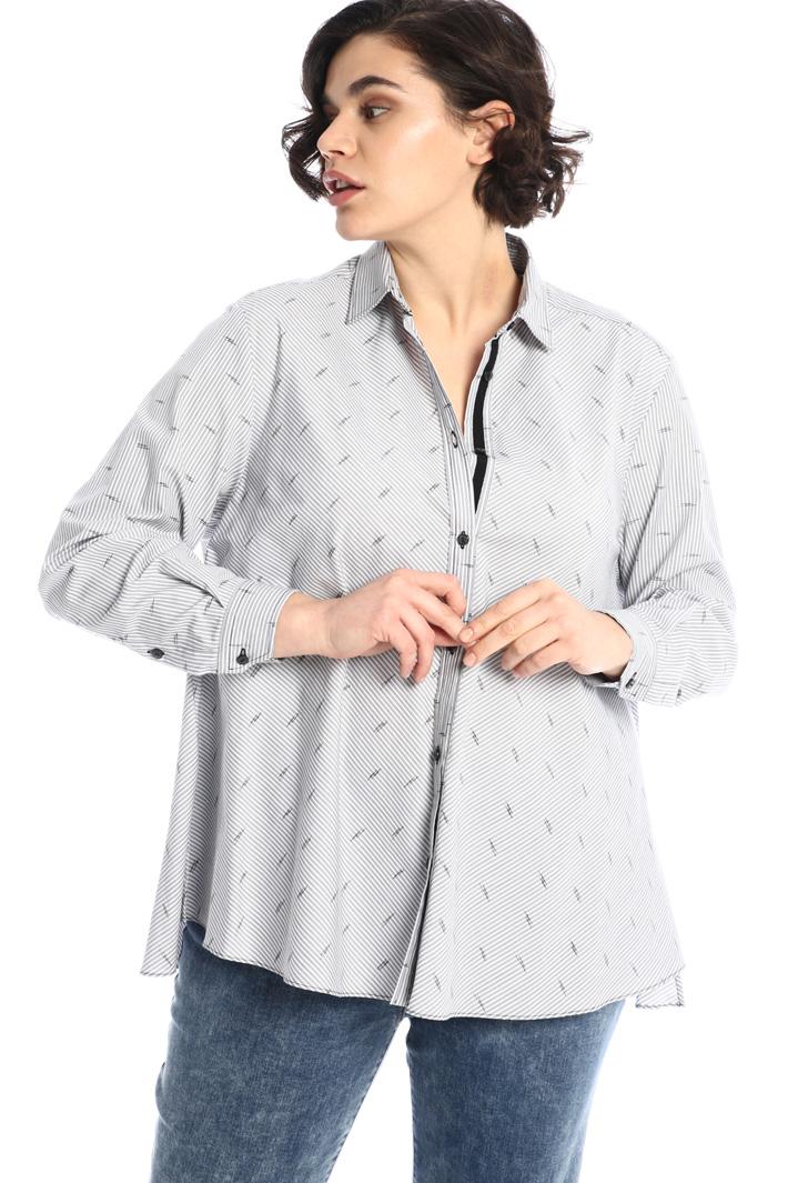 Flared poplin shirt Intrend
