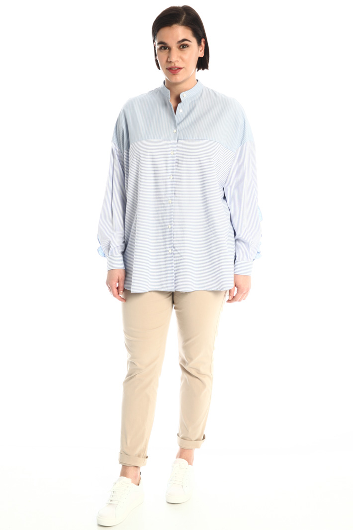 Shirt with frilled details Intrend