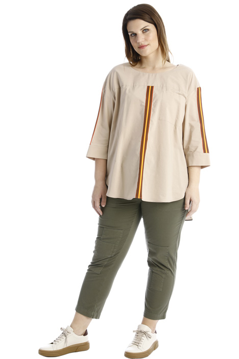 Intarsia cotton tunic Intrend