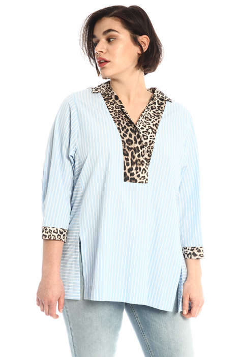 Cotton tunic  with side slits Intrend
