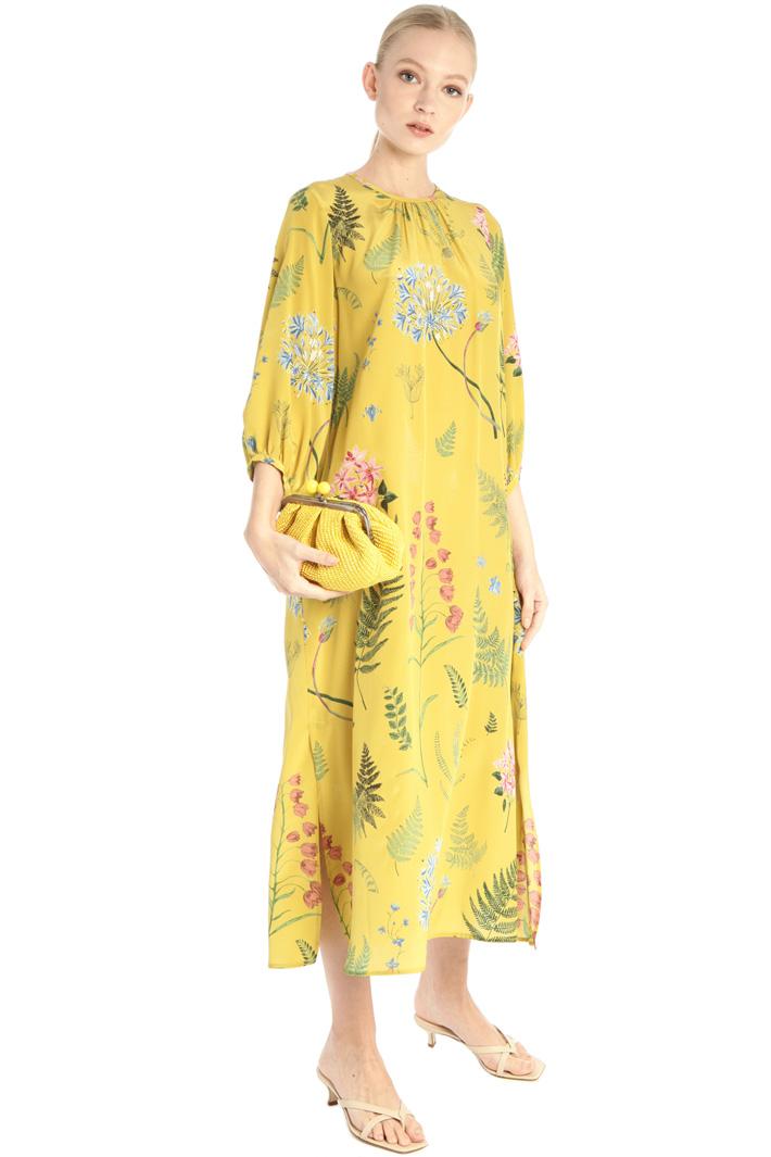 Flared silk crepe dress Intrend