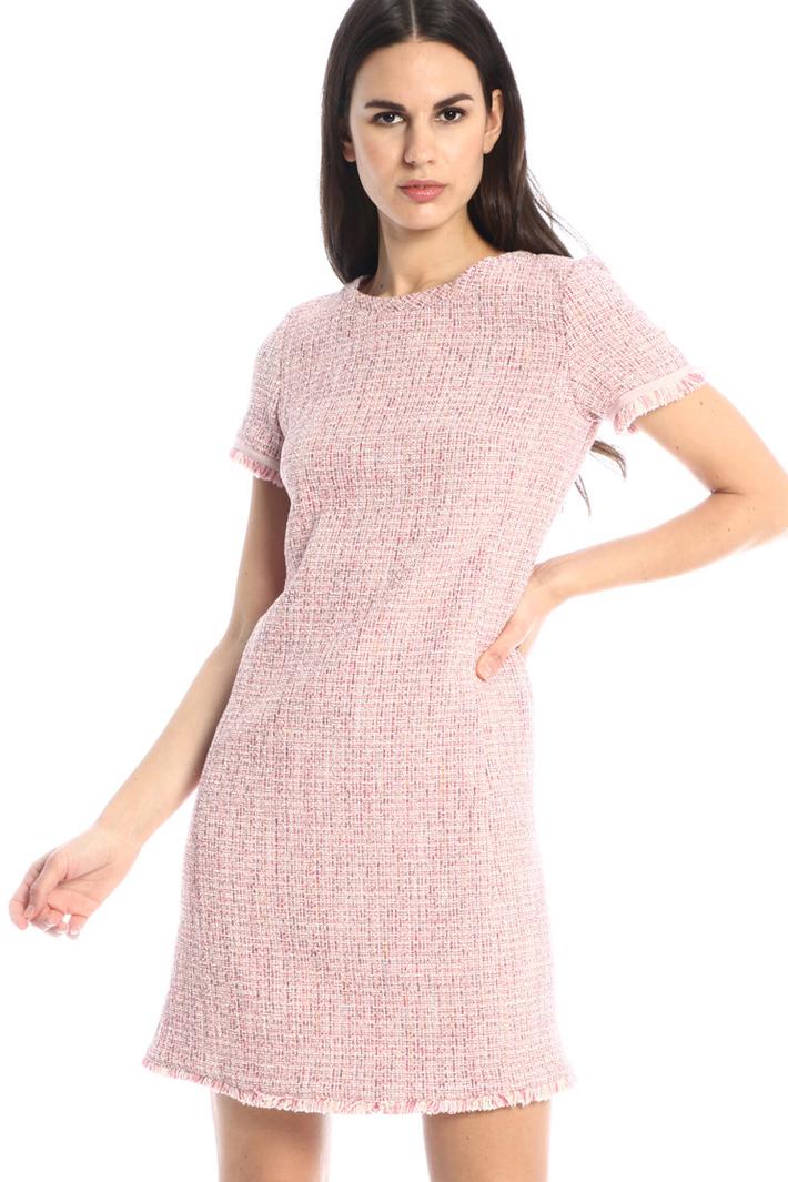 Fringed tweed dress Intrend