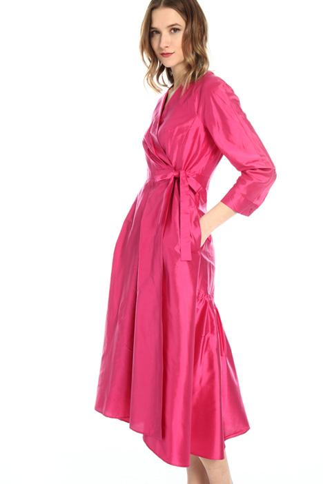 Shantung wrap-up dress Intrend