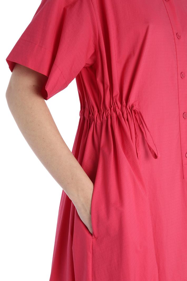 Drawstring cotton dress Intrend
