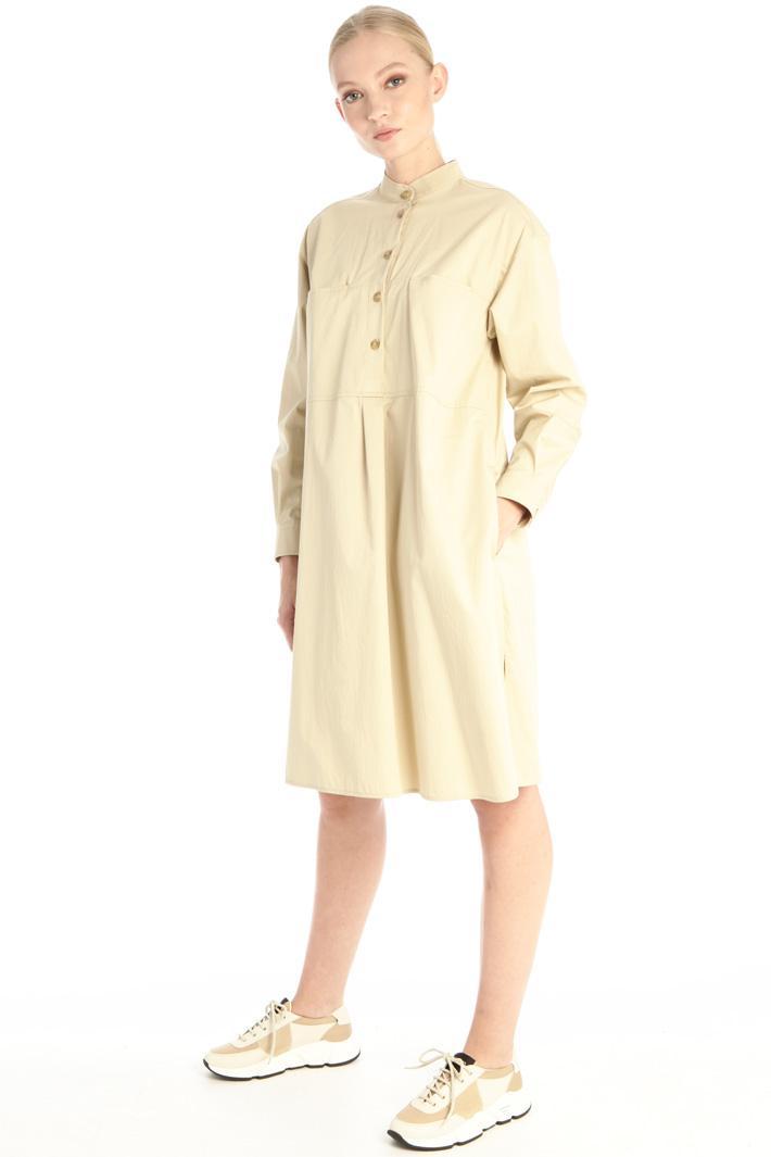 Gabardine chemisier dress Intrend