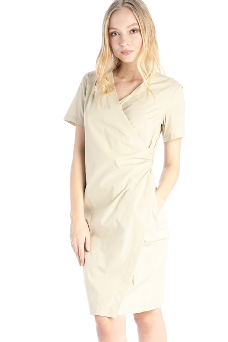 Draped poplin dress Intrend