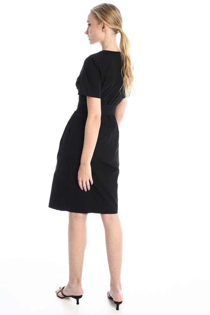 Draped poplin dress Intrend
