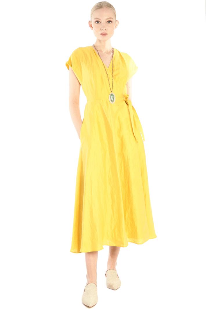 Silk and linen satin dress Intrend