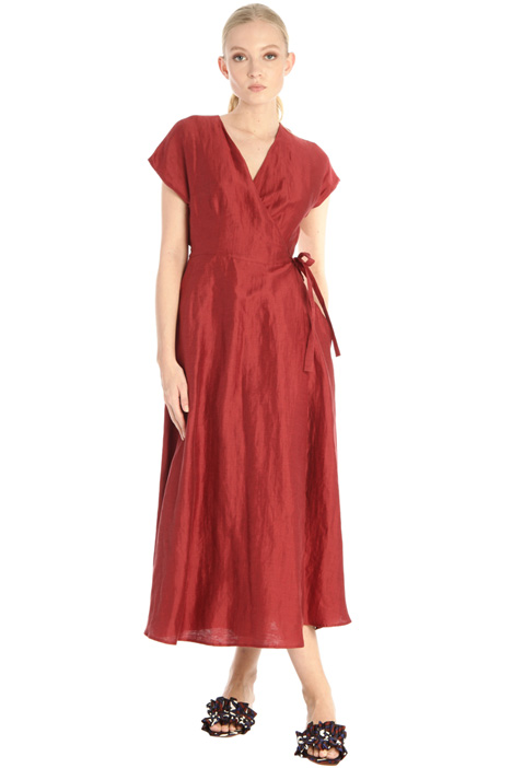 Silk and linen satin dress Intrend