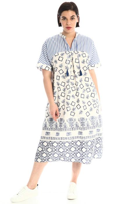 Dress in printed poplin Intrend