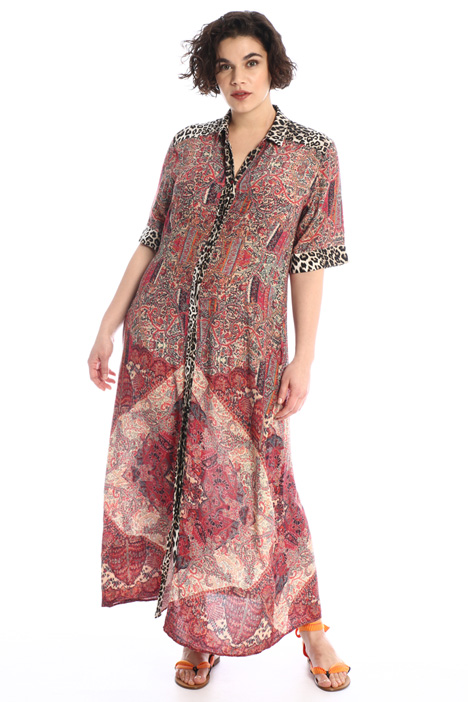 Dress in flowing viscose Intrend