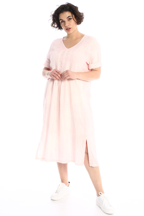 Linen dress with slits Intrend