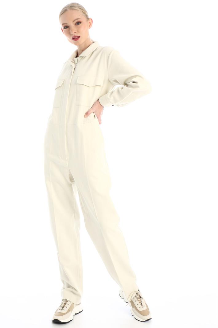 Cotton canvas jumpsuit Intrend
