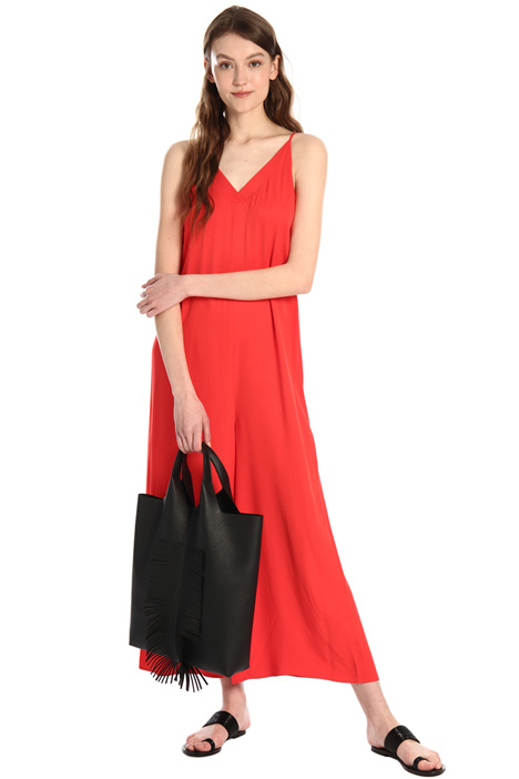 Cropped viscose jumpsuit Intrend